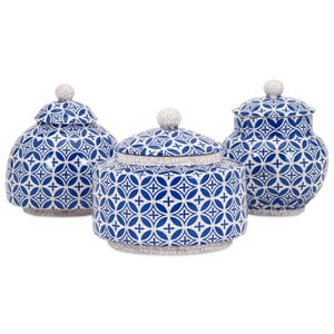 IMAX Worldwide Home Boxes, Bowls, and Balls Jessica Lidded Boxes - Set of 3