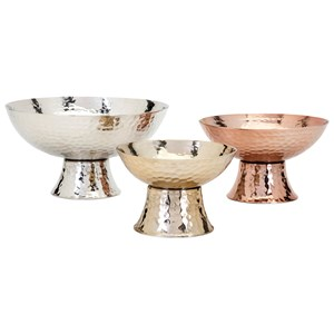 IMAX Worldwide Home Boxes, Bowls, and Balls Parvel Metallic Pedestal Decorative Bowls -