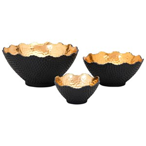 IMAX Worldwide Home Boxes, Bowls, and Balls Nova Decorative Bowls - Set of 3