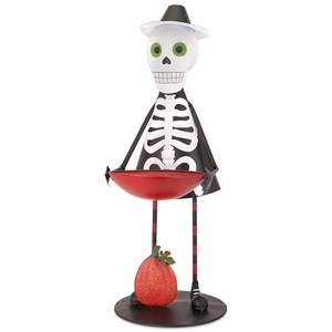 IMAX Worldwide Home Boxes, Bowls, and Balls Sam the Skeleton with Candy Bowl