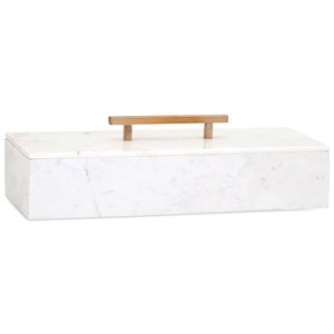 IMAX Worldwide Home Boxes, Bowls, and Balls Keely Marble Lidded Box