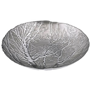 IMAX Worldwide Home Boxes, Bowls, and Balls Ethereal Tree Bowl - Silver Plated