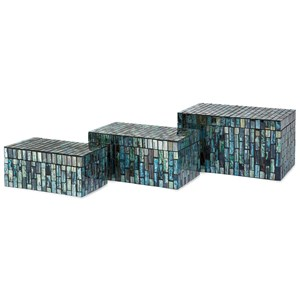 IMAX Worldwide Home Boxes, Bowls, and Balls Aramis Mosaic Boxes - Set of 3