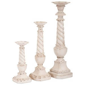 IMAX Worldwide Home Candle Holders and Lanterns Brannon Candleholders - Set of 3