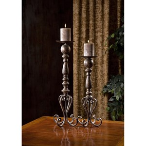 IMAX Worldwide Home Candle Holders and Lanterns Darby Candle Stands  - Set of 2