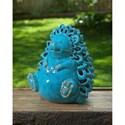 IMAX Worldwide Home Candle Holders and Lanterns Hedgehog Ceramic Candleholder - Item Number: 13533
