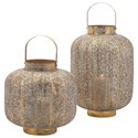 IMAX Worldwide Home Candle Holders and Lanterns Elliot Small Pierced Lantern - Item Number: 14214