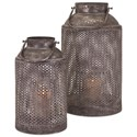IMAX Worldwide Home Candle Holders and Lanterns Farmer's Small Lantern - Item Number: 14217