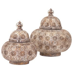 IMAX Worldwide Home Candle Holders and Lanterns Eliza Small Pierced Lantern