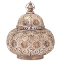 IMAX Worldwide Home Candle Holders and Lanterns Eliza Small Pierced Lantern - Item Number: 14218