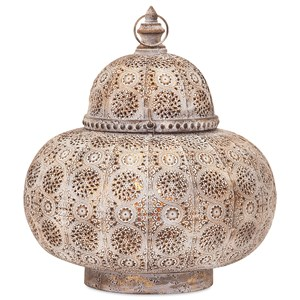 IMAX Worldwide Home Candle Holders and Lanterns Eliza Large Pierced Lantern