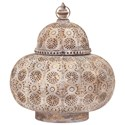 IMAX Worldwide Home Candle Holders and Lanterns Eliza Large Pierced Lantern - Item Number: 14219
