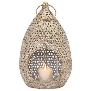 IMAX Worldwide Home Candle Holders and Lanterns Teardrop Large Lantern