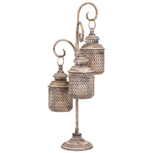 IMAX Worldwide Home Candle Holders and Lanterns Darha Triple Lantern
