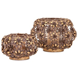 IMAX Worldwide Home Candle Holders and Lanterns Charay Large Flower Lantern