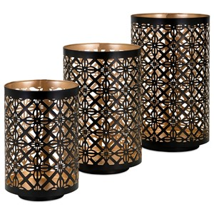 IMAX Worldwide Home Candle Holders and Lanterns Helena Pierced Lanterns - Set of 3