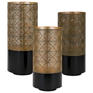 IMAX Worldwide Home Candle Holders and Lanterns Manhattan Pierced Lanterns - Set of 3