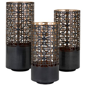 IMAX Worldwide Home Candle Holders and Lanterns Modi Pierced Lanterns - Set of 3