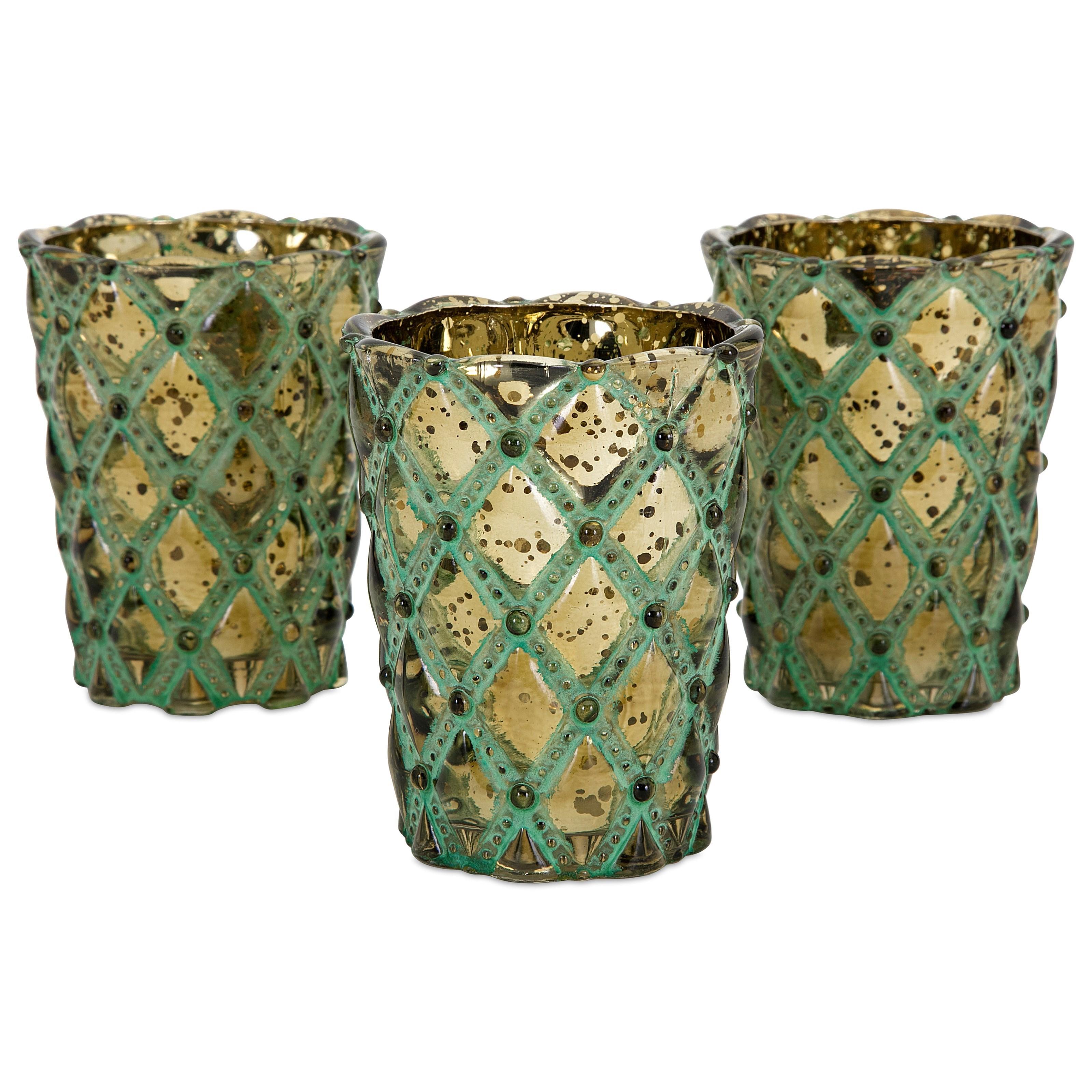 Lumina Glass Candleholders with Gift Box