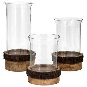 IMAX Worldwide Home Candle Holders and Lanterns Damari Pillar Candleholders - Set of 3