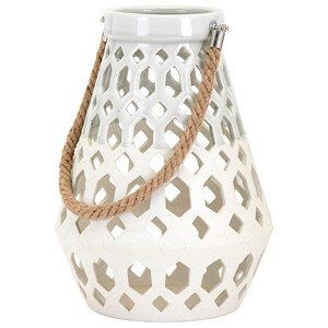 IMAX Worldwide Home Candle Holders and Lanterns Cora Ceramic Lantern