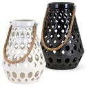 IMAX Worldwide Home Candle Holders and Lanterns Cora Ceramic Lantern - Item Number: 14553