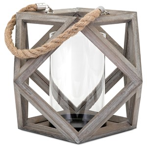 IMAX Worldwide Home Candle Holders and Lanterns Ares Large Wood Lantern