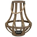 IMAX Worldwide Home Candle Holders and Lanterns Bacchus Wood Lantern - Item Number: 16202