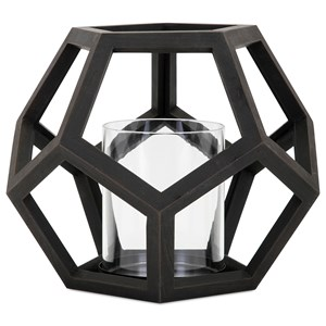 IMAX Worldwide Home Candle Holders and Lanterns Ubon Small Wood Lantern
