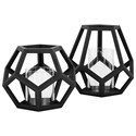 IMAX Worldwide Home Candle Holders and Lanterns Ubon Small Wood Lantern - Item Number: 16203