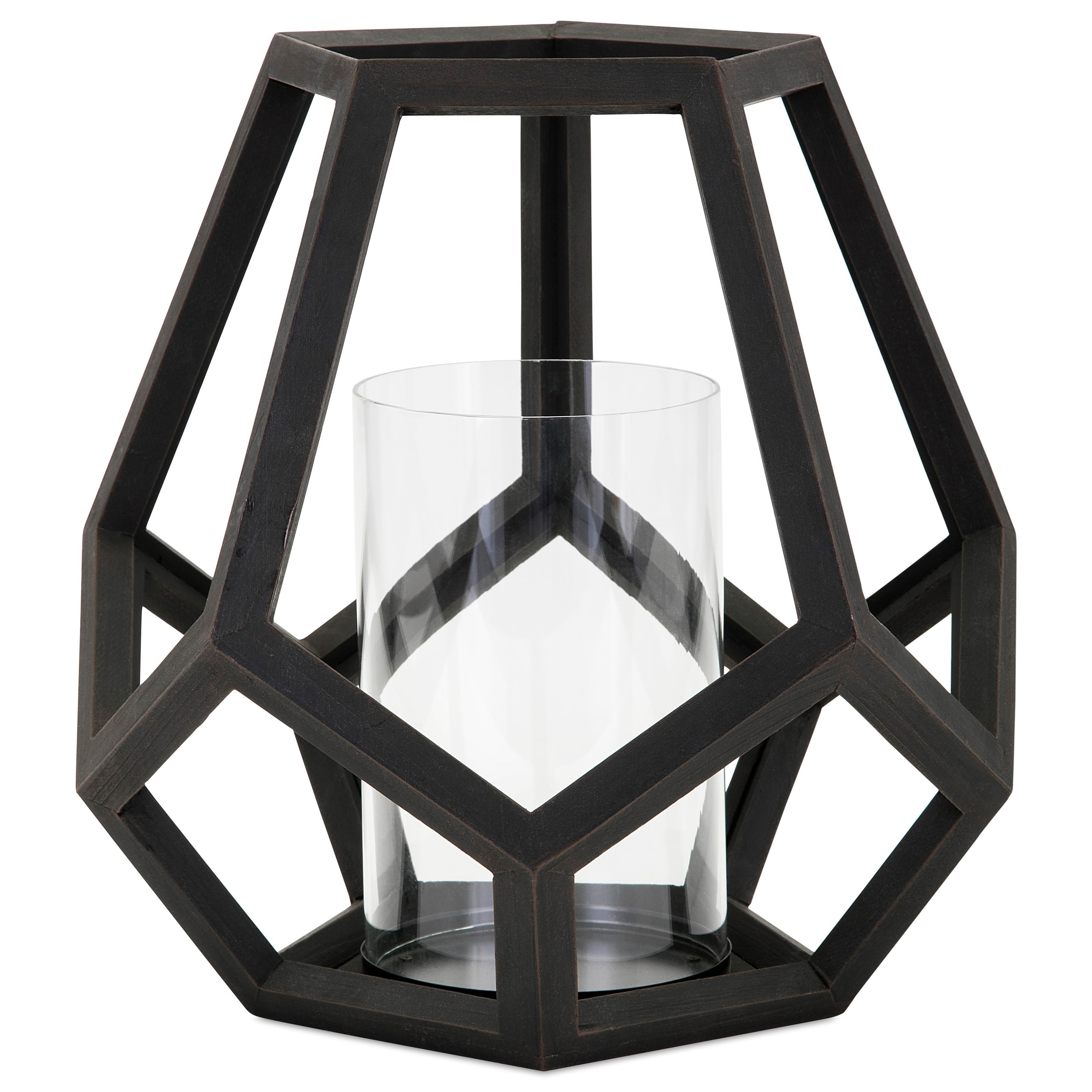 Candle Holders and Lanterns Ubon Large Wood Lantern by IMAX Worldwide Home at Miller Waldrop Furniture and Decor
