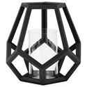 IMAX Worldwide Home Candle Holders and Lanterns Ubon Large Wood Lantern - Item Number: 16204