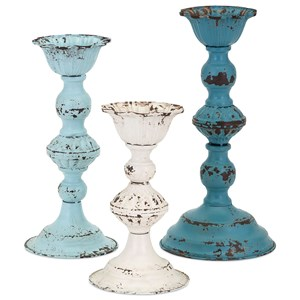 IMAX Worldwide Home Candle Holders and Lanterns Brugge Vintage Candleholders - Set of 3