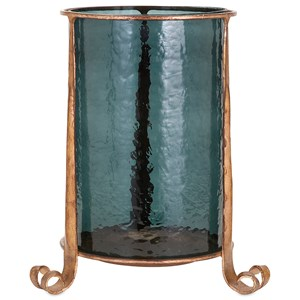 IMAX Worldwide Home Candle Holders and Lanterns Azure Small Candle Hurricane