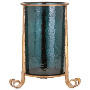 IMAX Worldwide Home Candle Holders and Lanterns Azure Large Candle Hurricane