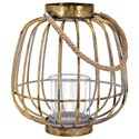 IMAX Worldwide Home Candle Holders and Lanterns Reko Short Lantern - Item Number: 20404