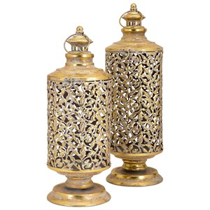 IMAX Worldwide Home Candle Holders and Lanterns Hakan Large Lantern