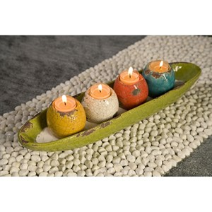 Mercade Tealight Candleholder in Tray - Set