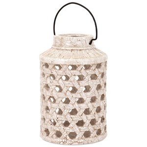 IMAX Worldwide Home Candle Holders and Lanterns Verandah Small Cutout Ceramic Lantern
