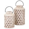 IMAX Worldwide Home Candle Holders and Lanterns Verandah Small Cutout Ceramic Lantern - Item Number: 40303