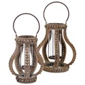 IMAX Worldwide Home Candle Holders and Lanterns Akiko Small Wooden Lantern - Item Number: 40500