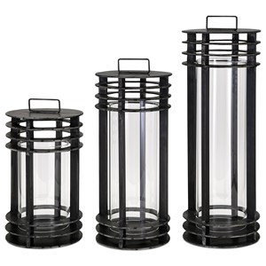 IMAX Worldwide Home Candle Holders and Lanterns Electra Metal Lanterns - Set of 3