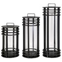 IMAX Worldwide Home Candle Holders and Lanterns Electra Metal Lanterns - Set of 3 - Item Number: 40509-3