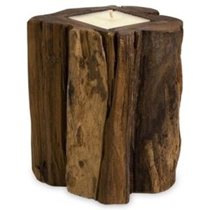 IMAX Worldwide Home Candle Holders and Lanterns Teakwood Medium Candle
