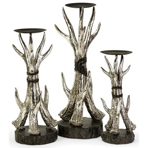 IMAX Worldwide Home Candle Holders and Lanterns Antler Candleholders - Set of 3