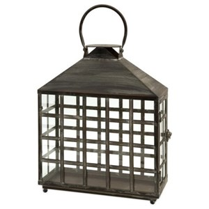 IMAX Worldwide Home Candle Holders and Lanterns Drake Wide Candle Lantern