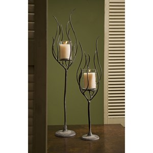 IMAX Worldwide Home Candle Holders and Lanterns Anemone Candleholders - Set of 2