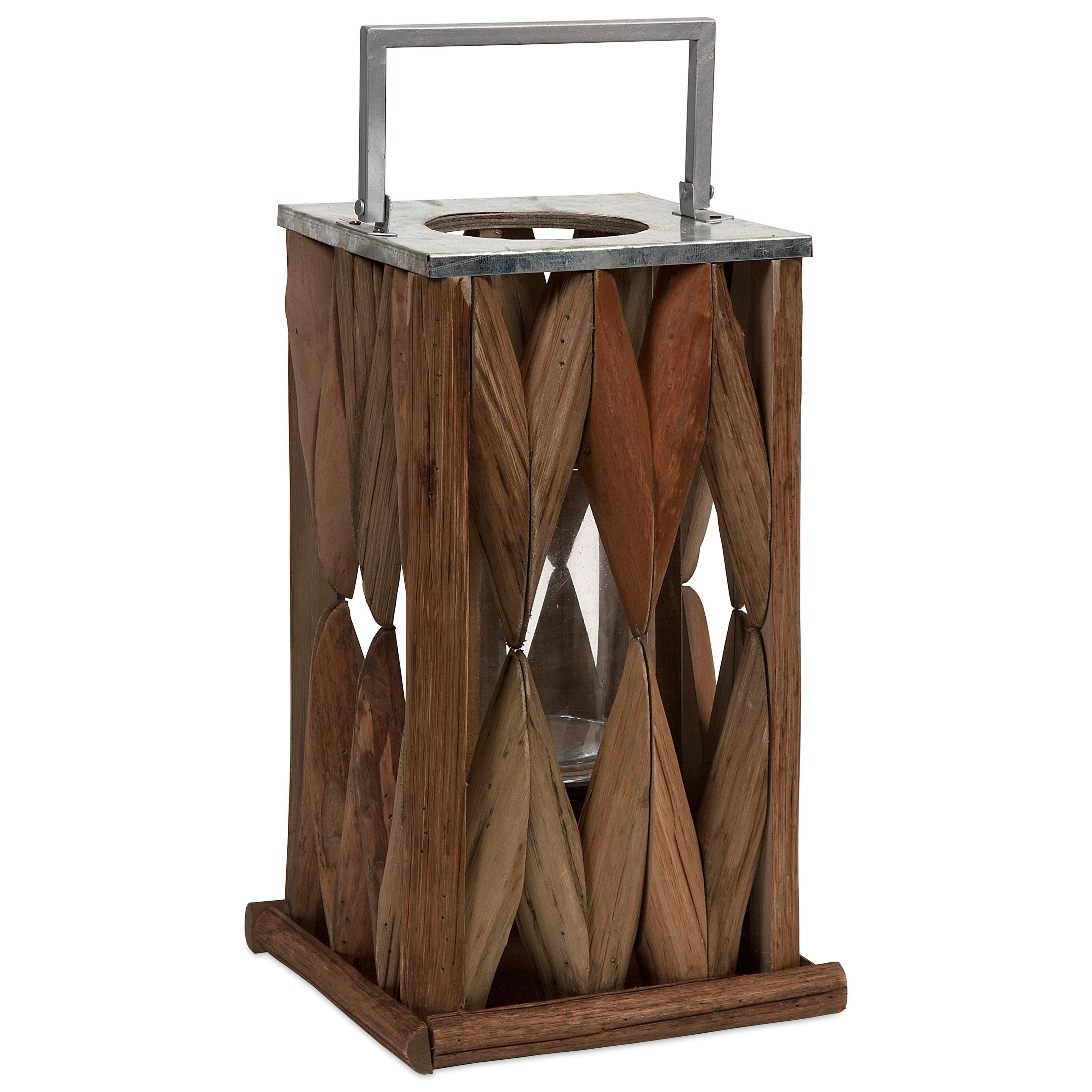 Santiago Large Wooden Lantern
