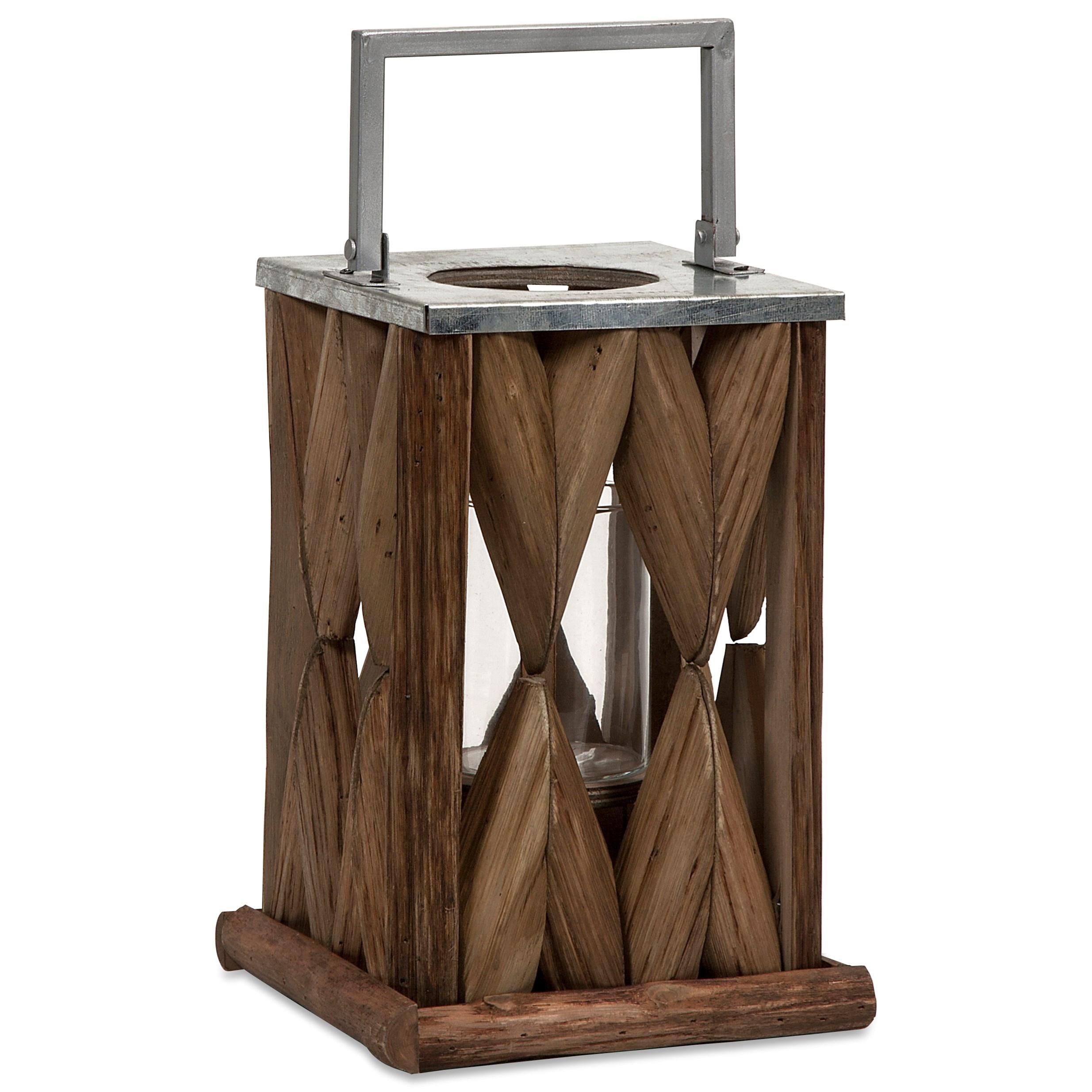 Santiago Small Wooden Lantern
