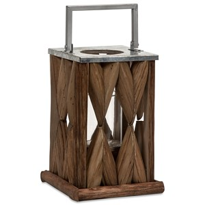 IMAX Worldwide Home Candle Holders and Lanterns Santiago Small Wooden Lantern